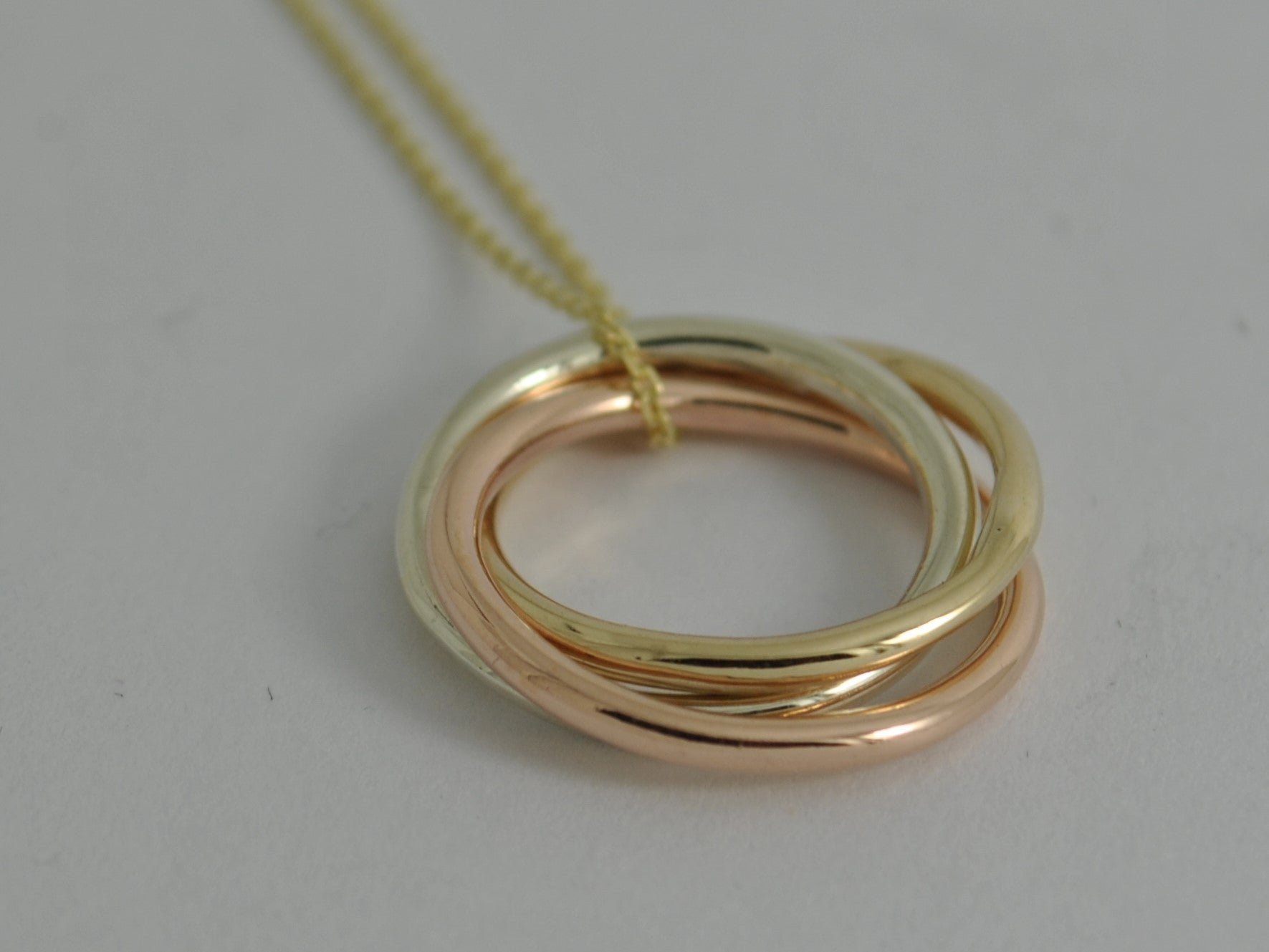 rose silver necklace necklaces gold double vermeil ring