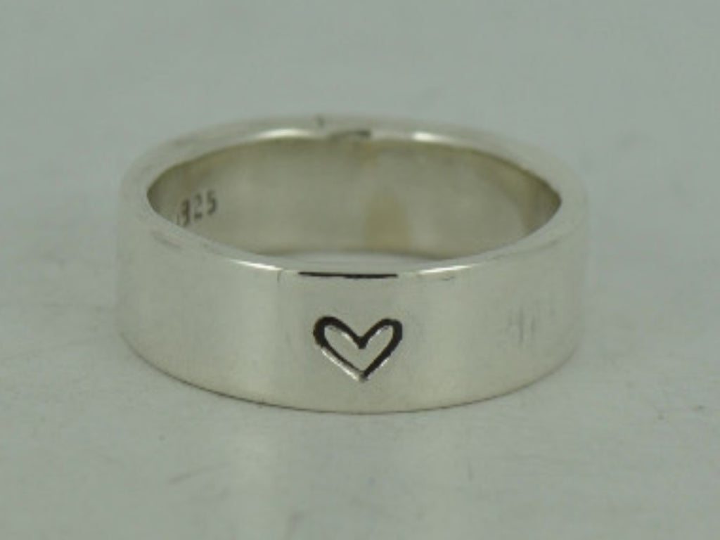 Secret Message Heart Sterling Silver Ring - I love you