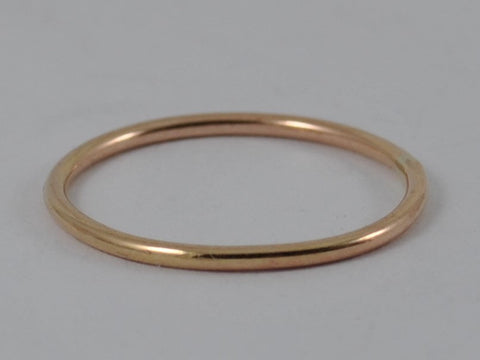 ROSE GOLD Skinny Wedding Ring Stackable Stacking Hammered Brushed Finish 9ct 9k