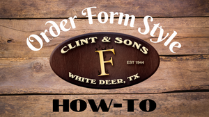 Order Form Style How-To