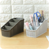 1 PC 4 Grids Office Storage Box Plastic Desktop