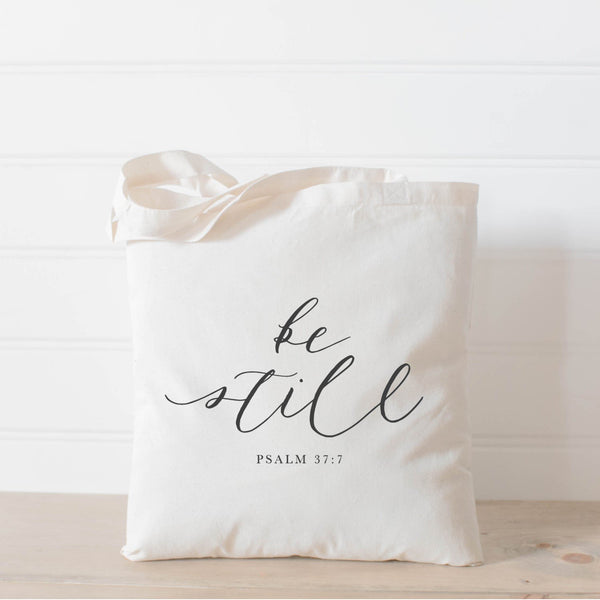Be Still Verse Tote Bag