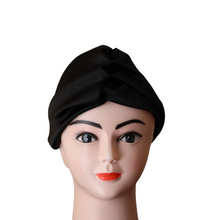 Load image into Gallery viewer, Black Satin Doek Head Band
