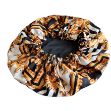 Load image into Gallery viewer, Satin lined Luxe print bonnet