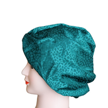 Load image into Gallery viewer, Green Embossed Satin Turban