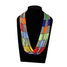 Load image into Gallery viewer, Beaded Multistranded Necklace