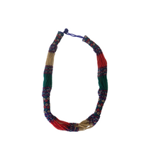 Load image into Gallery viewer, Short Blue and Red Multistranded Necklace