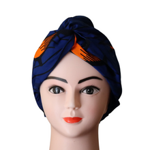 Load image into Gallery viewer, Royal Blue African Print Doek Head Band