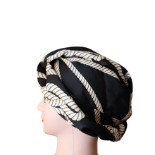 Load image into Gallery viewer, Satin Chain Print Turban