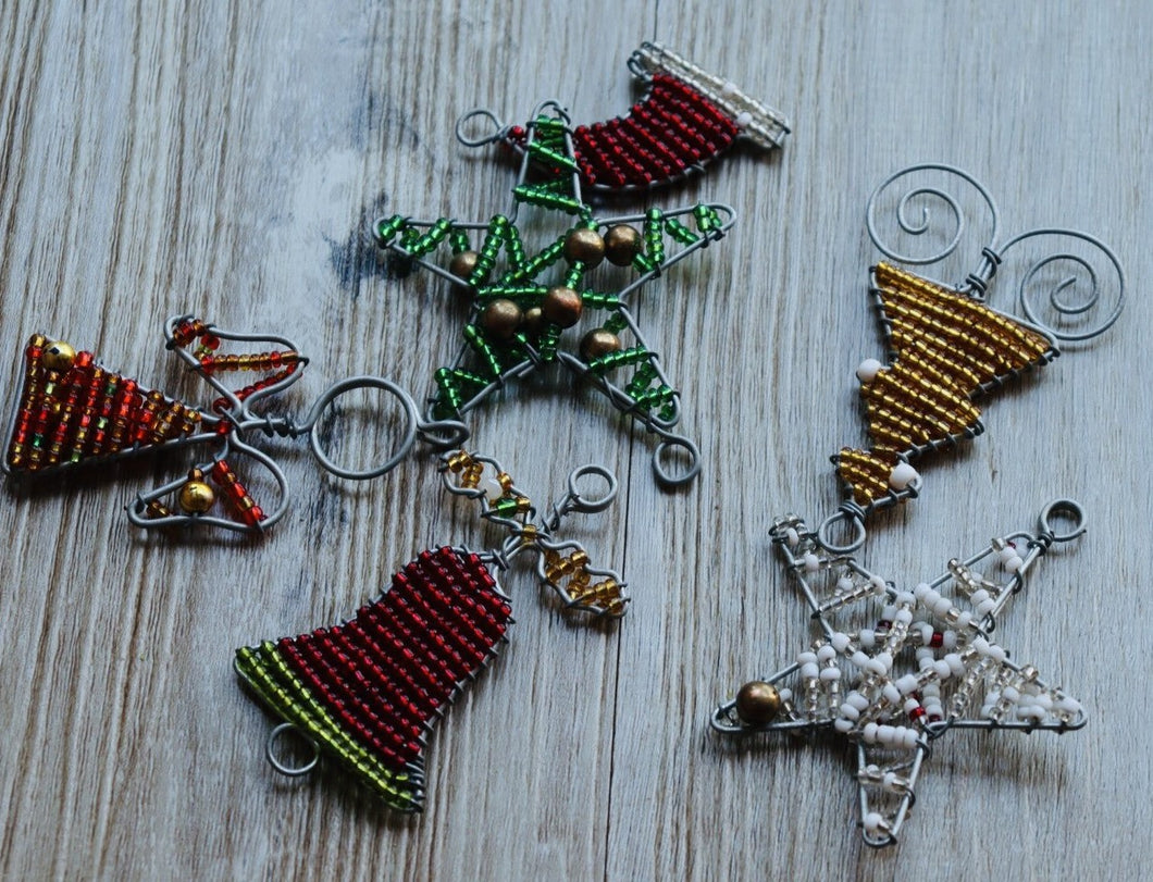 Assorted Beaded Christmas Ornaments