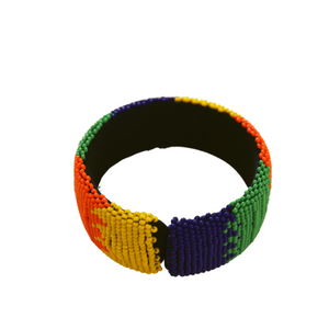 Beaded multi-colored bracelet