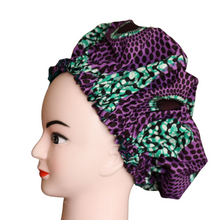 Load image into Gallery viewer, Satin lined African print Bonnet