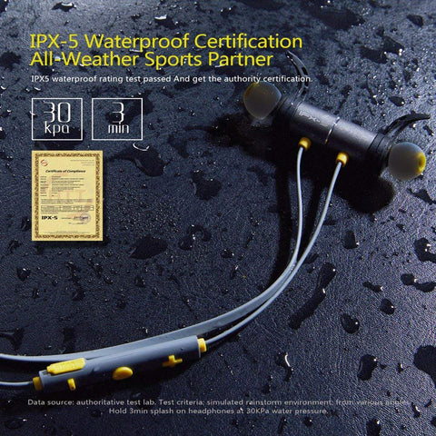IPX-5 Waterproof Certification