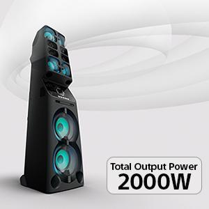 Powerful 2000W Spread-out Sound for bigger parties