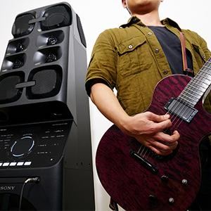 Guitar input lets you be part of the music