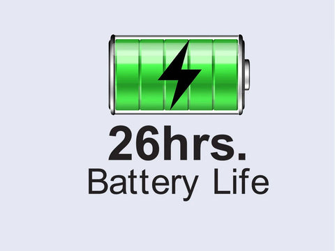 26hrs Battery Life