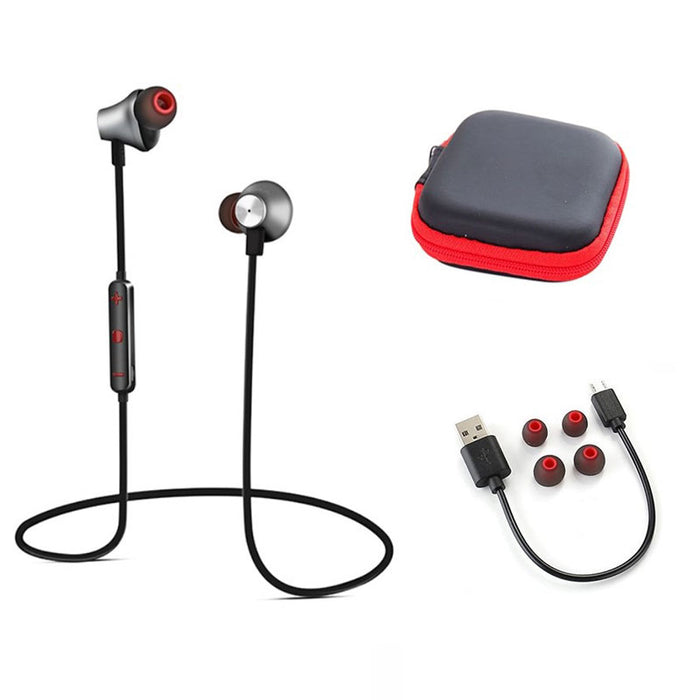 Foscous FS-1BT Wireless In-Ear Magnetic Bluetooth Sports Earphones, with MIC & Carry Case