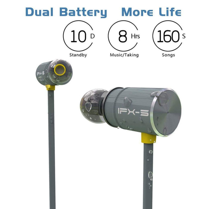 Foscous FS-2BT Wireless in-Ear Magnetic Bluetooth Sports Earphones, with MIC & Carry Case