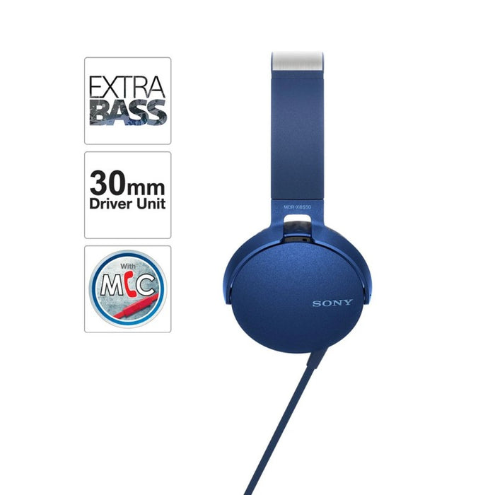 Sony MDR-XB550AP EXTRA BASS On-Ear Headphones with MIC