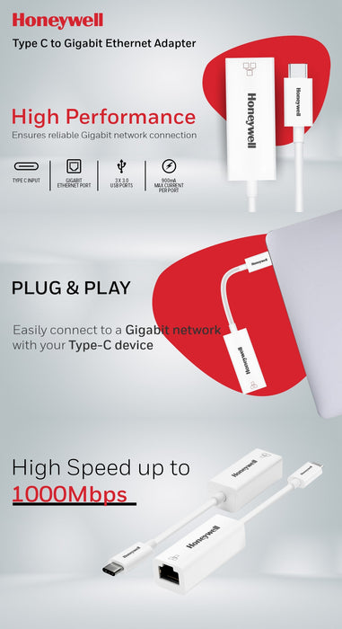 Honeywell Type C to Gigabit Ethernet Adapter