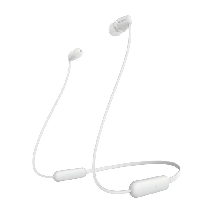 Sony WI-C200 Wireless Bluetooth in-Ear Headphones with MIC, 15 Hours Battery Life, Magnetic Earbuds and Tangle Free Cord