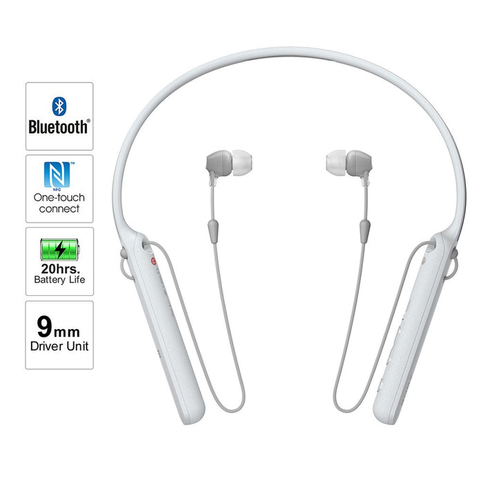 Sony WI-C400 Wireless Neckband In-Ear Bluetooth Headphones with MIC, 20 Hours Battery Life and Light Weight