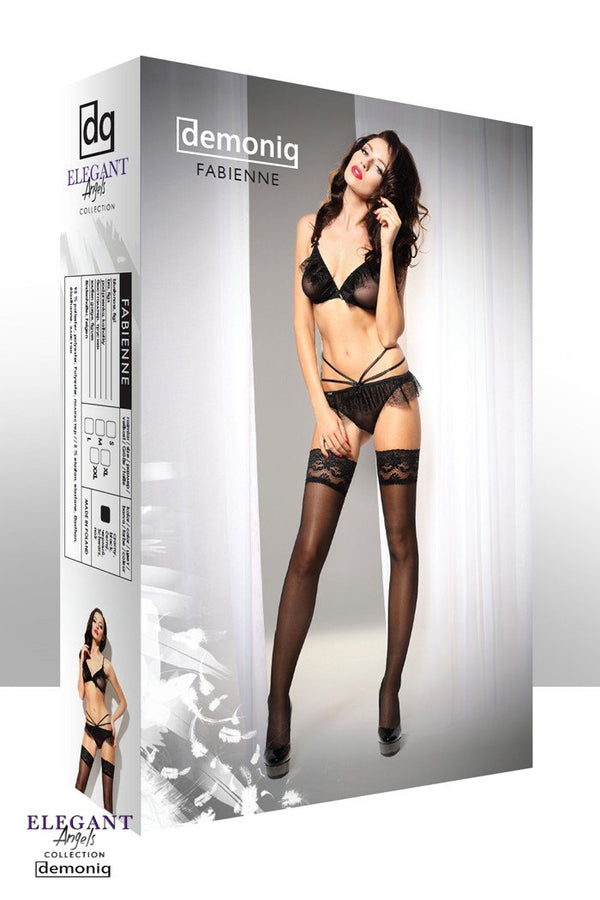 schwarzes Set Fabienne von Demoniq Elegant Angels Collection