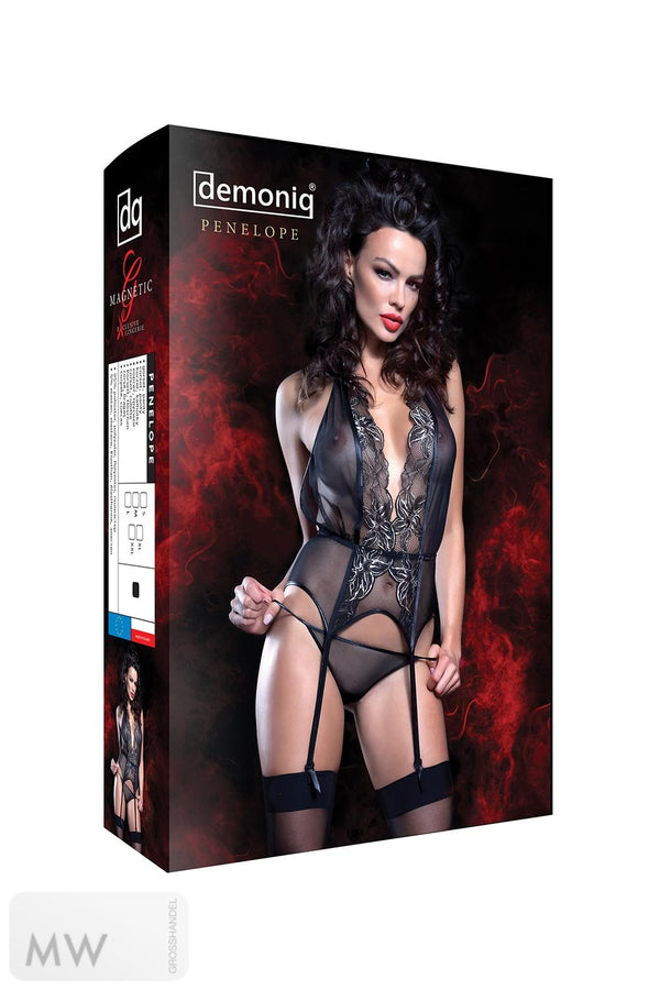schwarz-goldenes Gorset Penelope von Demoniq Magnetic Collection