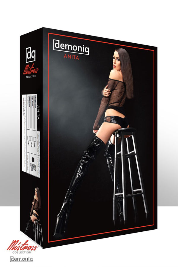 schwarzes Set Anita von Demoniq Mistress Collection