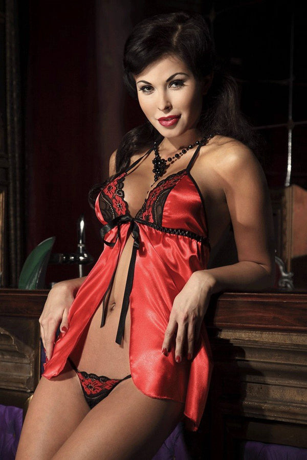 rotes Babydoll Noemi von Passion Dessous