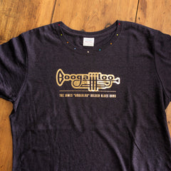 Boogaloo - Ladies' T-Shirt Foil Print with 'Bling' Neck - Three color choices available