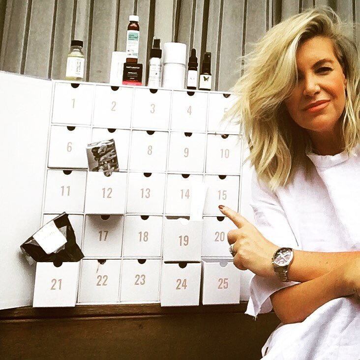 Rebecca Maddern enjoying The Beauty Advent Calendar
