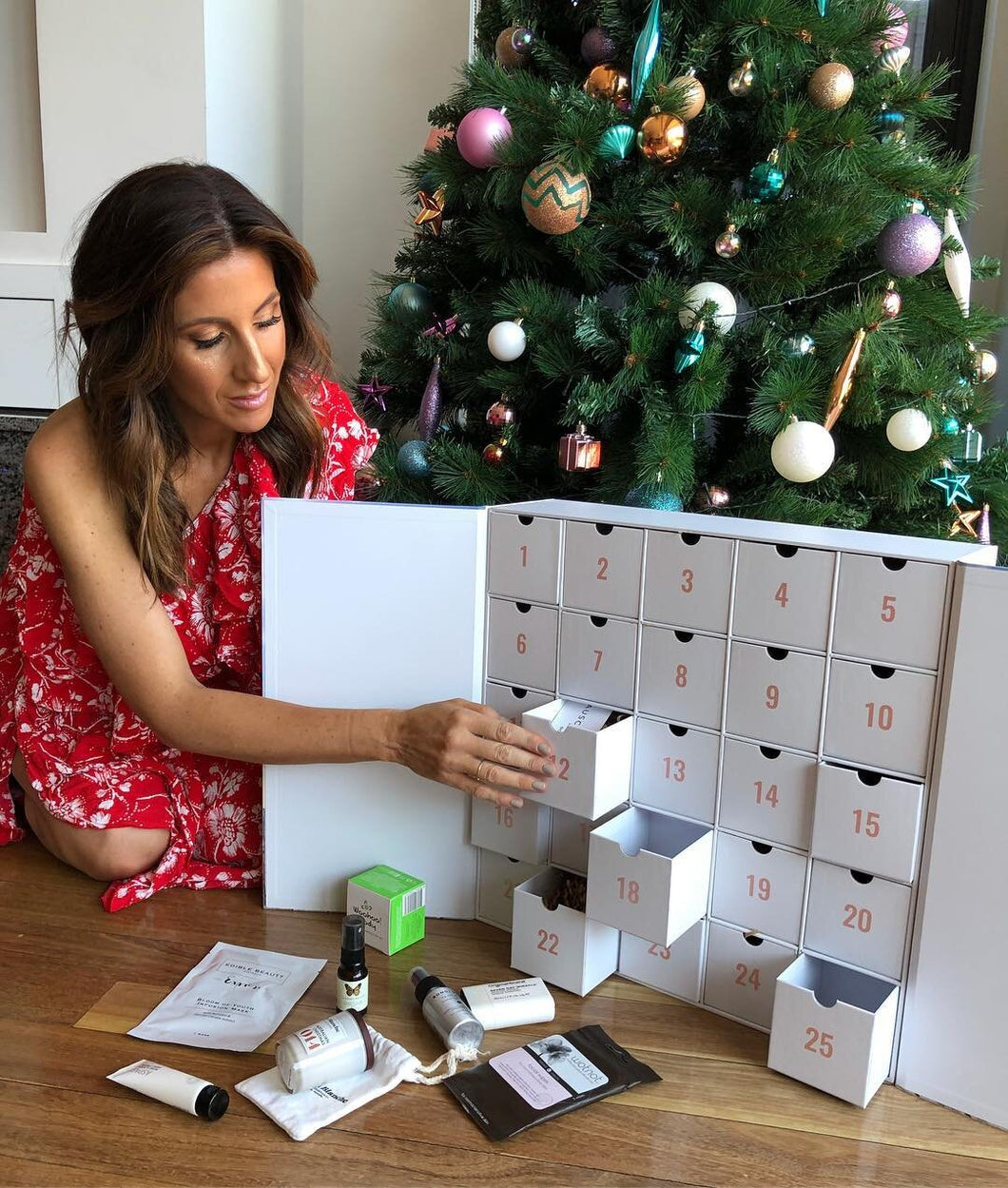 Lana Wilkinson enjoying The Beauty Advent Calendar