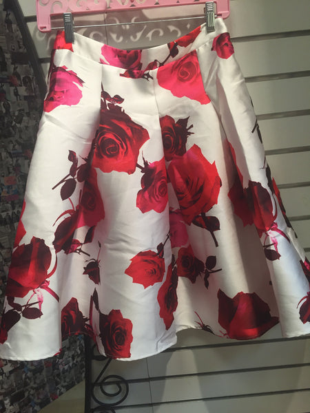 Rose Petals Taffeta Skirt