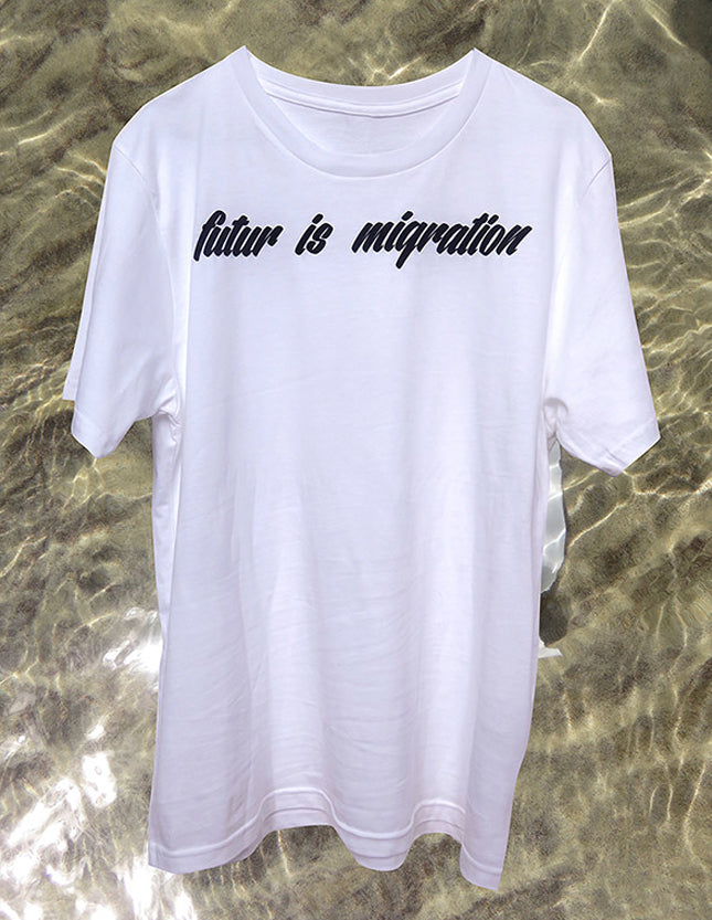 future is migration t-shirt