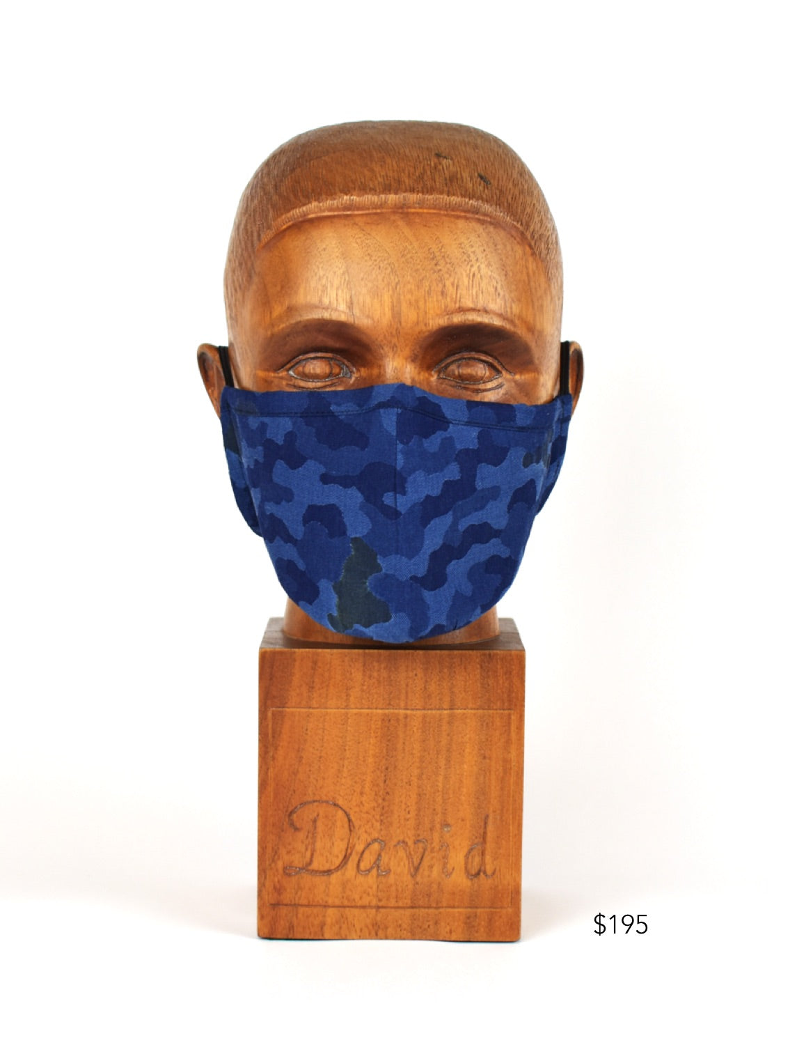 Premium Navy Camo Cloth Face Mask