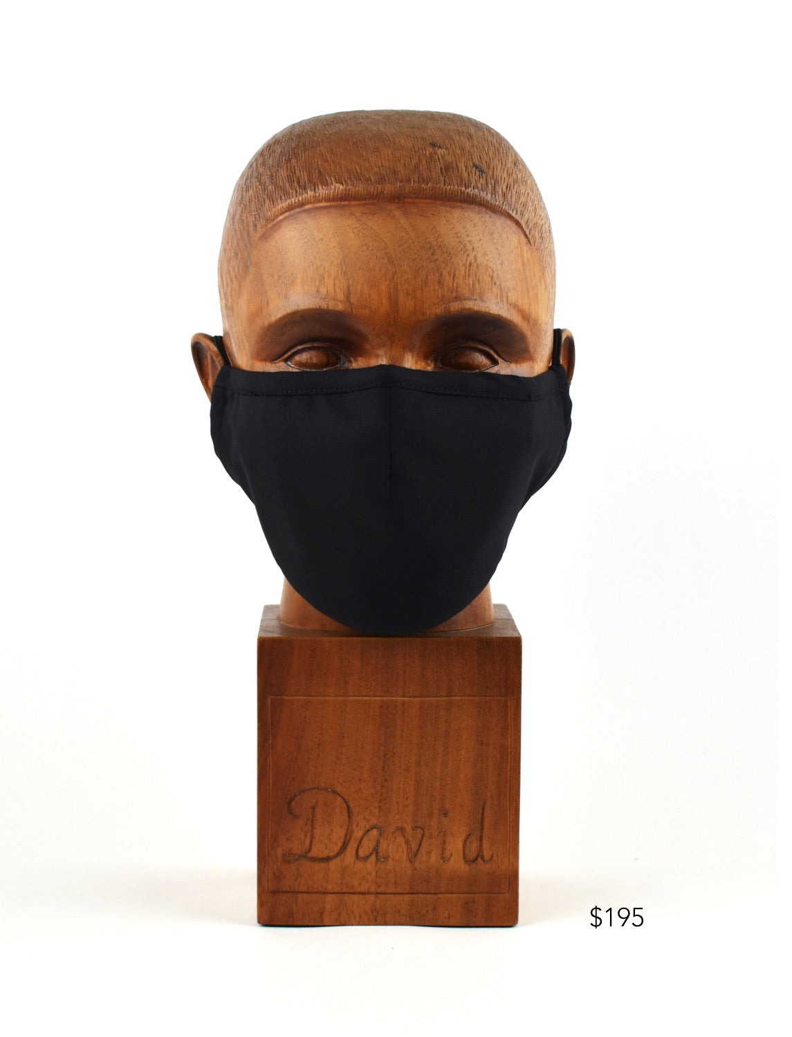 Premium Black Solid Cloth Face Mask