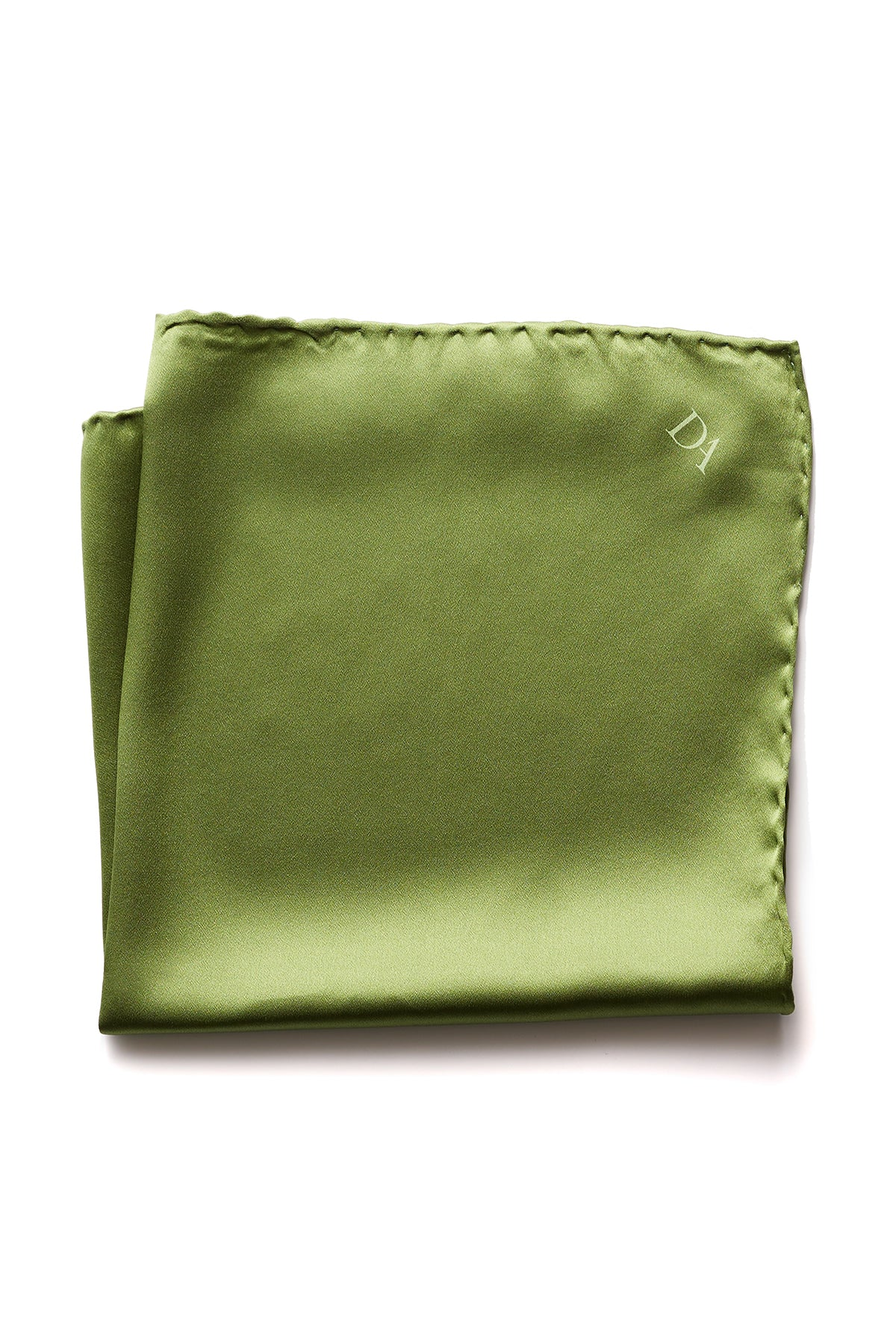 David August Solid Chartreuse Green Italian Silk Pocket Square