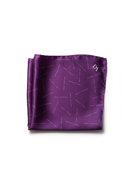 Miracles For Kids Exclusive Silk Pocket Square - Purple