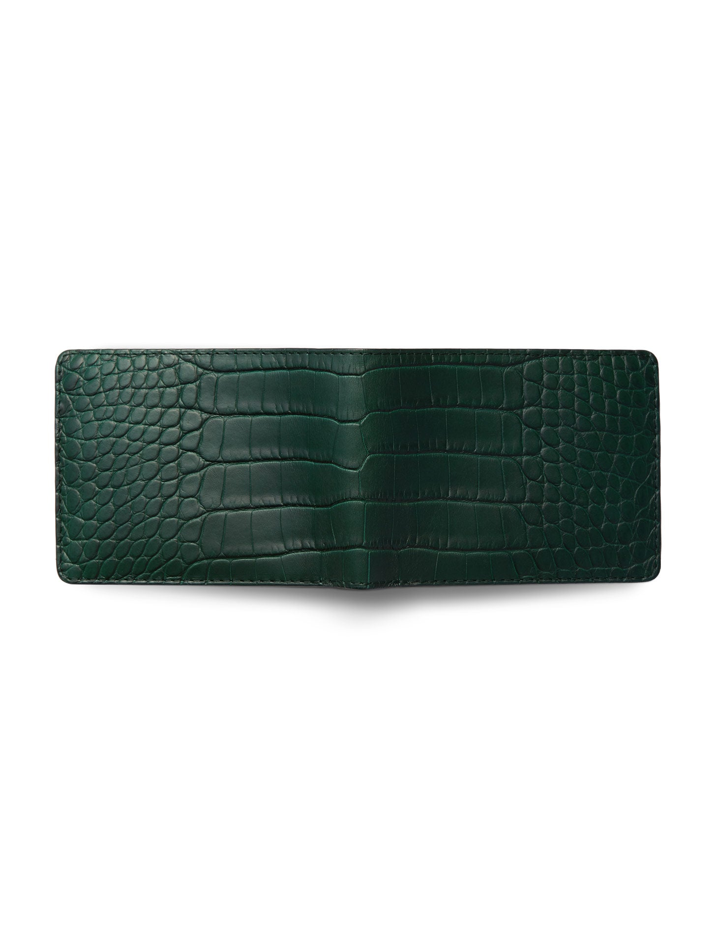David August Luxury Genuine Alligator Bi-Fold Wallet