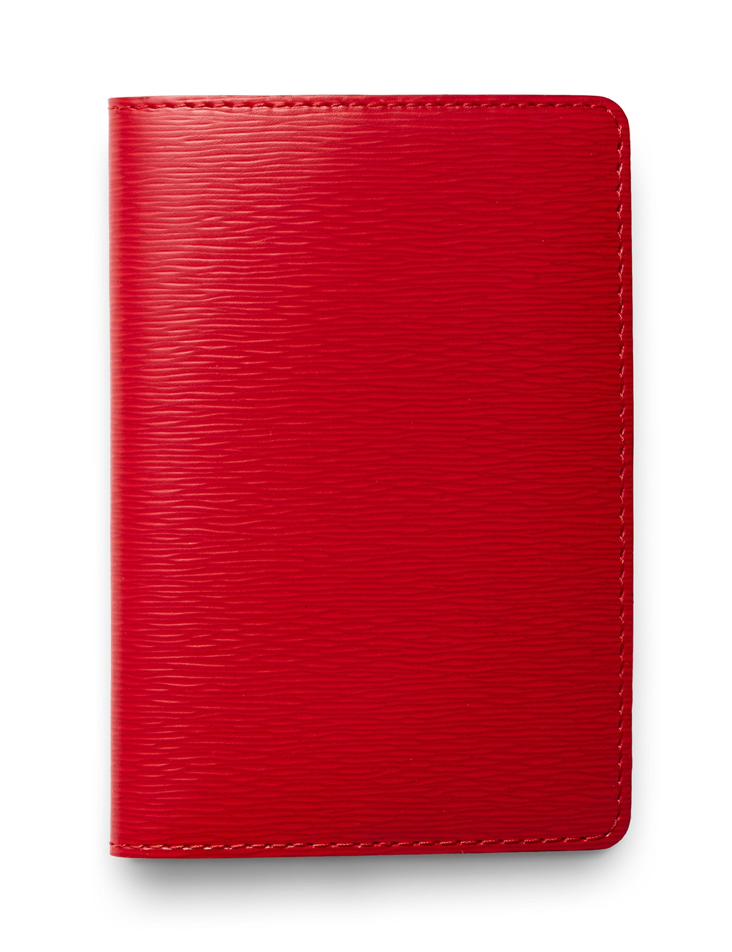 David August Luxury Epi Leather Passport Holder in Red