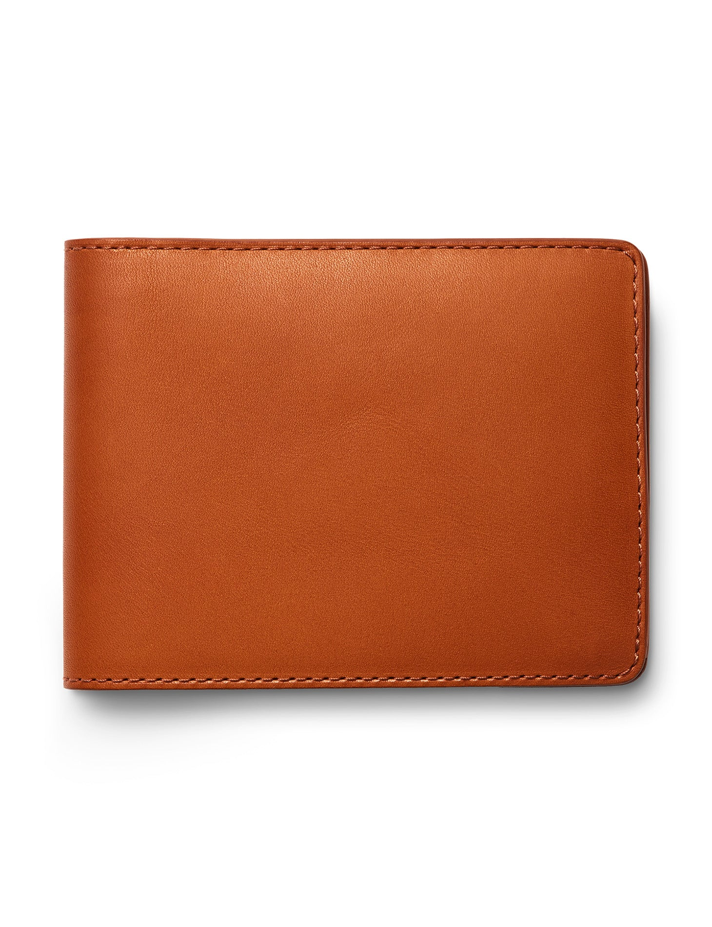 David August Luxury Genuine Vintage Calfskin Leather Bi-Fold Wallet in Brown