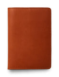 David August Luxury Genuine Vintage Calfskin Leather Passport Holder in Brown
