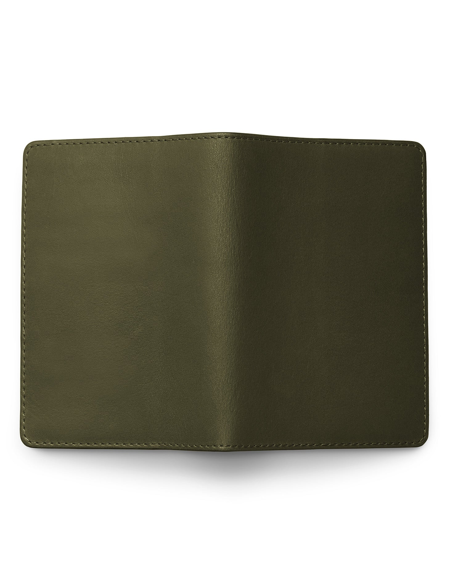 David August Luxury Genuine Vintage Calfskin Leather Passport Holder in Olive Green