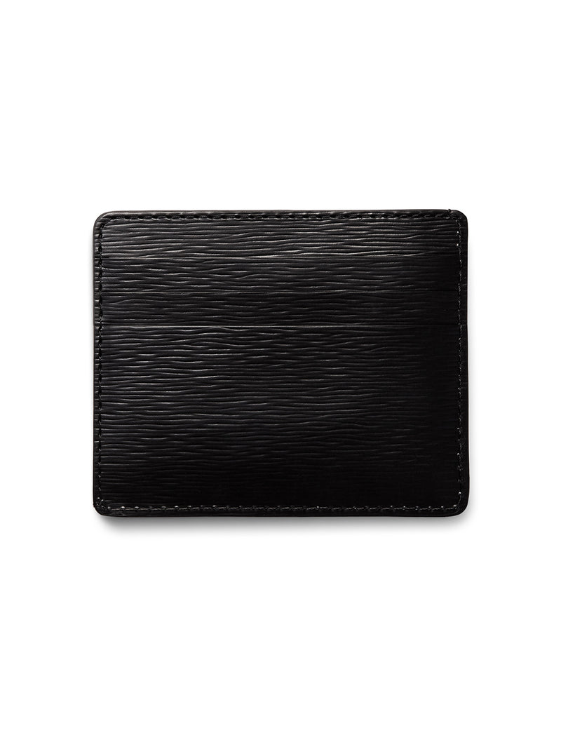 David August Luxury Genuine Epi Leather Card Case in Black