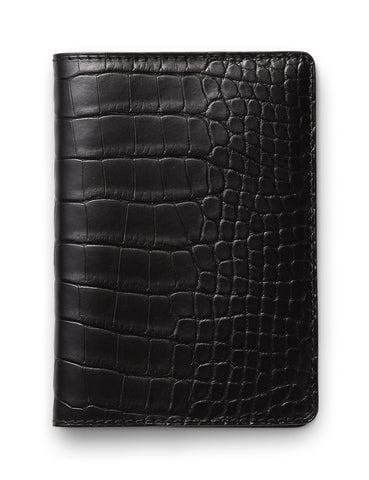 David August Luxury Genuine Vintage Calfskin Leather Card Case