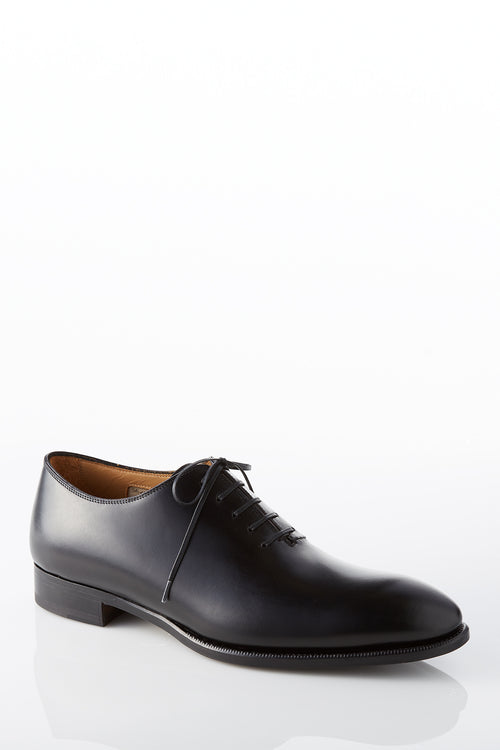 David August Leather Whole Cut Dress Shoe in Black Di Bianco