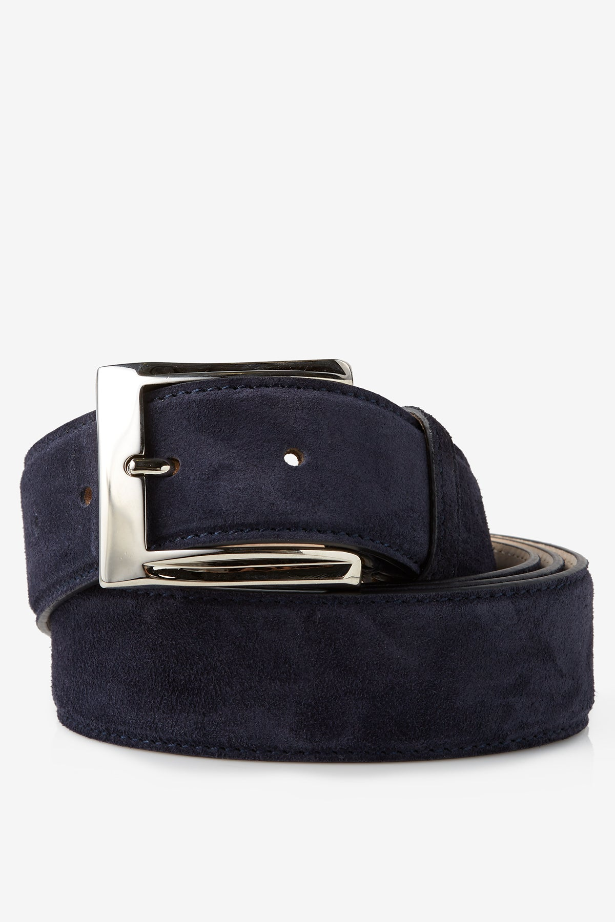 David August Genuine Velour Belt in Cosmos Blue Di Bianco