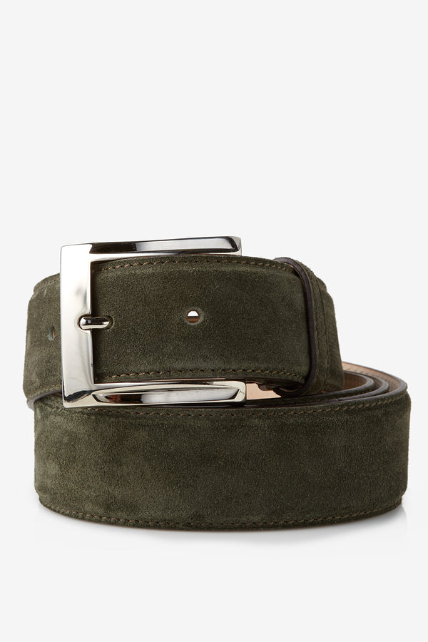 David August Genuine Velour Belt in Loden Green