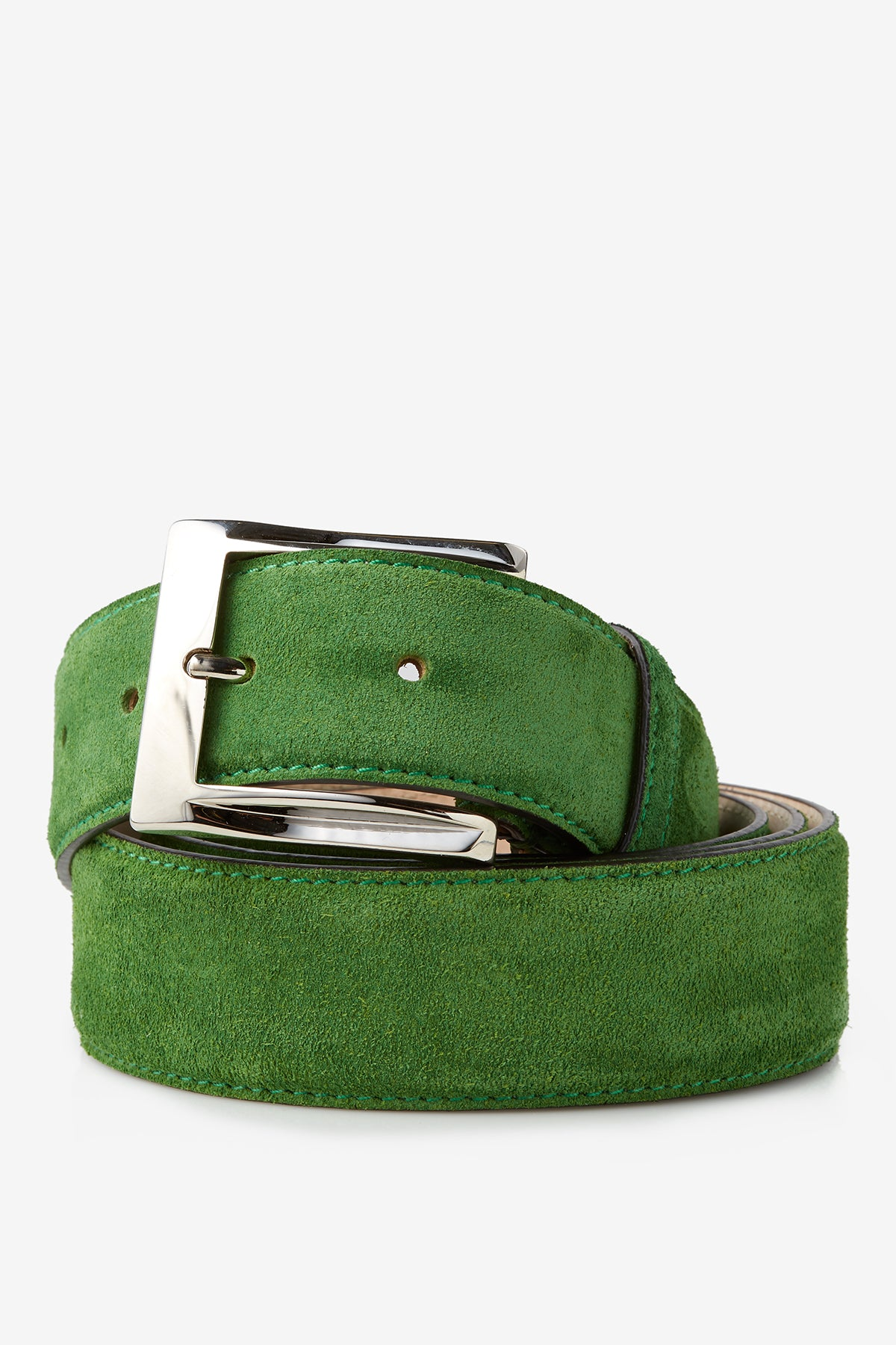 David August Genuine Velour Belt in Sport Green Di Bianco